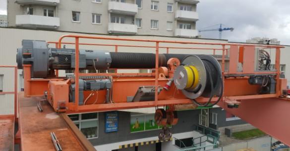 Wciągarka, budowa wciągarki suwnicy bramowej