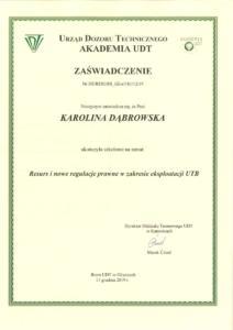 Karolina Dąbrowska - Resurs i nowe regulacje prawne w zakresie eksploatacji UTB